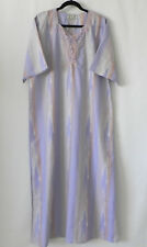 BB High Fashion Lounge Dress/Cover-Up Maxi Short Sleeve Embroidery Trim Size 2XL