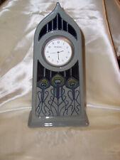 Moorcroft Porcelain Clock-Peacock Feather Design-c.2012