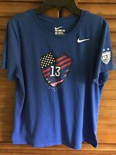 GUC Women's Nike #13 Alex Morgan Team USA Blue Tee T-Shirt Size XL USWNT ⚽️🇺🇸