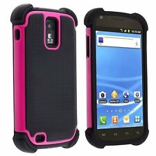 Hybrid Armor Case for Samsung Galaxy S2 T989 (T-Mobile) - Black/Pink