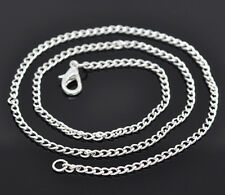 12 Newest Silver Plated Link Chain Necklaces 2x2.9mm 18""