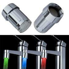 LED Changing Sensor Faucet Sale Glow Color Temperature RGB Light Tap Water New F