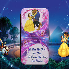 DISNEY/BEAUTY&BEAST/DANCE/QUOTE/FLIP WALLET PHONE CASE COVER FOR IPHONE/SAMSUNG