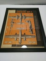 Vintage 1955 Aviation Advertising plane magazine art GRUMANN S2F-1
