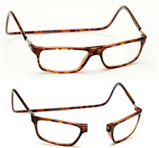 +1.50 Brown Tortoiseshell Magnetic Click front Loop Reading Glasses Brown +1.5