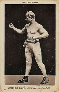 "POSTCARD SPORT - BOXING -  GEORGE "" KNOCKOUT "" BROWN - USA LIGHTWEIGHT # 24"