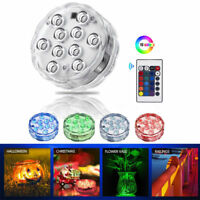 2/4×Remote Controlled RGB Submersible LED Lights Color Changing Battery Operated