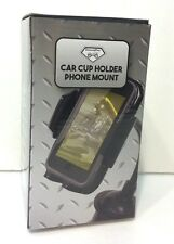 Cell Phone Car Cup Holder Mount Smartphones Adjustible Diamond Plate New