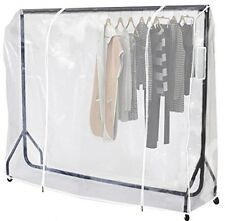 Heavy Duty 6ft Clothes Tidy Rail Cover Coat Stands Cover Protector Storage Rail