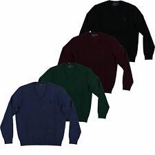 Polo Ralph Lauren para hombre con cuello en V suéter de lana Merino Pony Logo XS S M L XL XXL