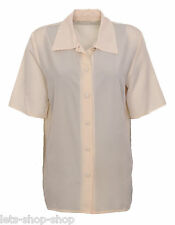 Womens Shirt Ladies Blouse Office Dress Top Tunic Short Sleeves Plus Size 14-26