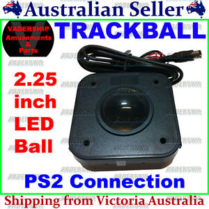 New: LED Trackball – 2.25″ Ball with PS2 Connection for PC / Arcade / Mame