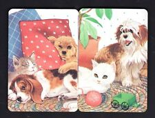 Vintage Swap/Playing Cards - Lovely Dogs & Cats Pair