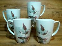 SET OF 4 - CORNING CORELLE - TWILIGHT GROVE - 12 OZ. PORCELAIN COFFEE MUGS