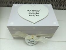 Shabby Personalised Chic Memory Box Baby Boy Or Girl Bereavement Memorial Box