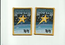 SCOUT BSA 2007 TOMAHAWK RESERVATION SNOW BASE PARTICIPANT & CAMPMASTER PATCH NSC