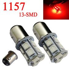 2x RED 13SMD LED BRAKE LIGHT BULB BA15D 1157 2057 7225 7528 FOR STOP TAIL LIGHT