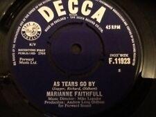 MARIANNE FAITHFULL . AS TEARS GO BY . ( Mick Jagger , Keith Richards )  . 1964