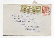 1965 DENMARK Air Mail Cover LYNGBY To HULL GB Walker