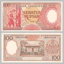 Indonesien / Indonesia 100 Rupiah 1958 p59 unz.
