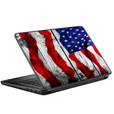 """Skin Decal for HP 2000 Laptop (2013-14) 15.6"""" 15"""" / American Flag on Wood"""
