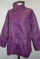 Movitex Ladies Lightweight Mac Size 14 / 16 Purple Festival Zip Up Lined BNWT