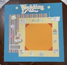Wedding Plans-12 x 12 premade scrapbook page