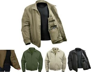 Mens Tactical Concealed Carry Insulated Jacket CCW Coat Under Cover Gun Covert