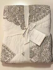 NWT Pottery Barn Quilted MYA BLOCK PRINT SHAM Cotton EURO 26 x 26 in