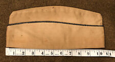 WW2 US Army Military Khaki Tan Black Gold Piping Officers Uniform Garrison Cap