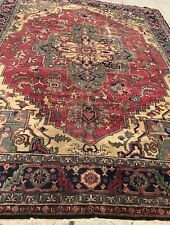 An Authentic Hand Made Antique Heriz Design Rug