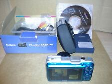 Canon PowerShot SX230 HS 12.1MP Digital Camera Blue+Box with Accessories.Working