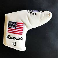 White USA Flag Embroidery Golf Club Blade Putter Head Cover for Scotty Cameron
