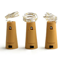 Wine Bottle Lights with Cork Battery Operated Multi-color Fairy String Lights