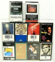 Vintage Cassette Tapes Lot Of 10 - 80s + Rock /Pop /Mixed Cassette Tapes C05