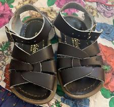 EEUC Saltwater Sandals Toddler Size 5 Dark Brown Leather