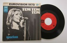 MARION TOM TOM TOM EUROVISION FINLAND 1973 / French Picture Sleeve 45