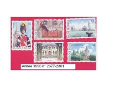 Année 1990, 5  Timbres poste Pour le tourisme. N° 2377-2381