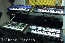 TALKBOX PATCHES (DX100, microKORG, MiniNova, JD-Xi, MicroBrute, R3 + MORE)