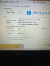 Dell Latitude E7250-128GB, Intel Core i5, 8GB, No Charger, Camera Issue!