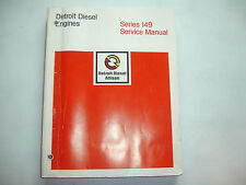 Detroit Diesel Series 149 Engines Factory Service Shop Overhaul Manual CLEAN '80
