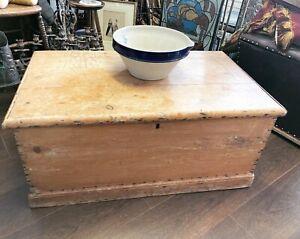 Antique Pine Blanket Box, Chest, Storage Box