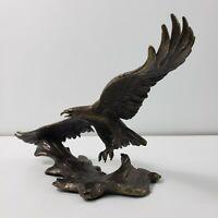 "1992 Franklin Mint ""SOVEREIGN OF THE SKIES"" Bronze Eagle Ronald Van Ruyckevelt"