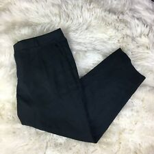 New Nwt Banana Republic Womens Size 12 Black  Dress Pants Tencel Pleated Pockets