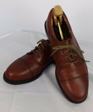 Earth Shoe  Size 11W Brown Leather Drake Shoes Oxfords Lace Up Rubber Sole
