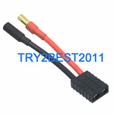 Traxxas TRX Female to 5.5mm Bullet Male Connector 5CM 12awg Wire Cable
