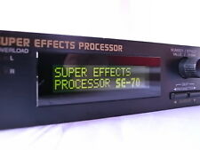BOSS SE-70 SE70 Super Effects Processor New internal Battery!! w/ power supply