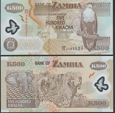Zambia 500 Kwacha 2008 P43 Mint Unc Polymer note