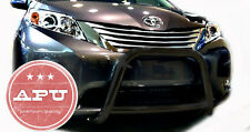 "2011-2017 Toyota Sienna Black Sport Bull Bar + 3"" LED Off Road Fog Lights"