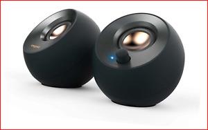 Creative Pebble V2 - Minimalistic 2.0 USB-C Powered Desktop Speakers, 3.5 mm Up